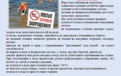 О мерах по предупреждению гибели людей на водных объектах в летний период 2020 г. на территории МОГК